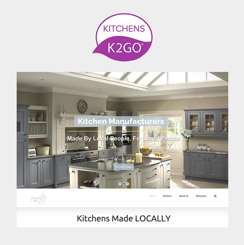 K2GO Kitchens - Website by designRED